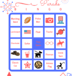 Fourth of July Parade Bingo – Free Printable