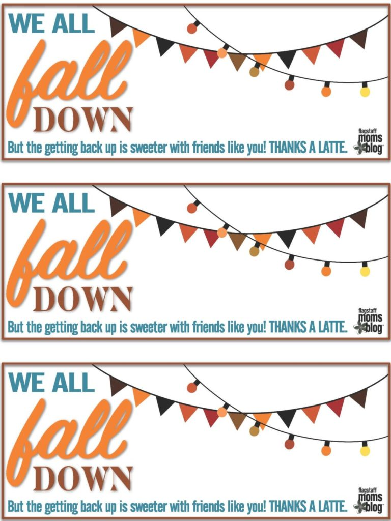 This is an image of Thanks a Latte Free Printable intended for logo