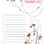 Winter Break Bucket List [ FREE Printable ]